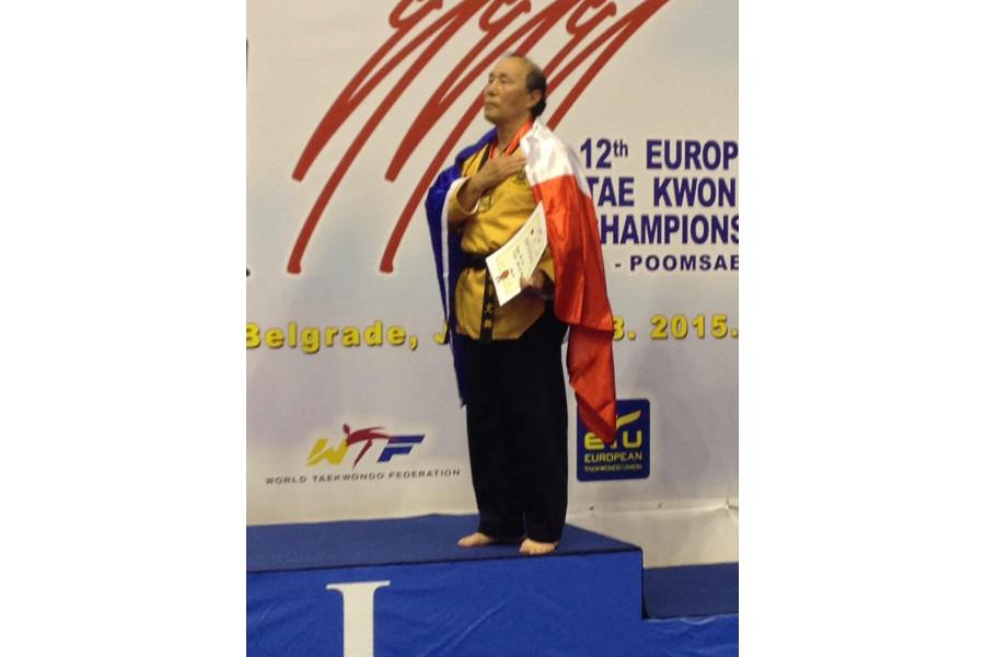 Maitre LEE MOON HO Europe Champion – Gold Medal at European Poomsae Championship 2015 Belgrade