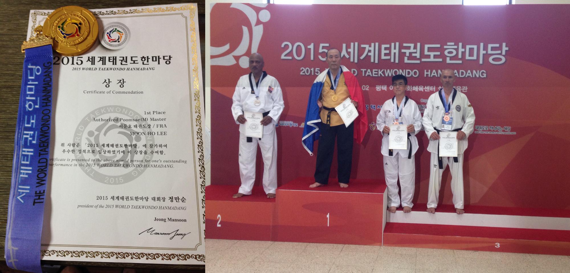 2015 World Tae Kwon Do Hanmadang, Pohang, Pyeongteak : Master Lee world champion for the third time